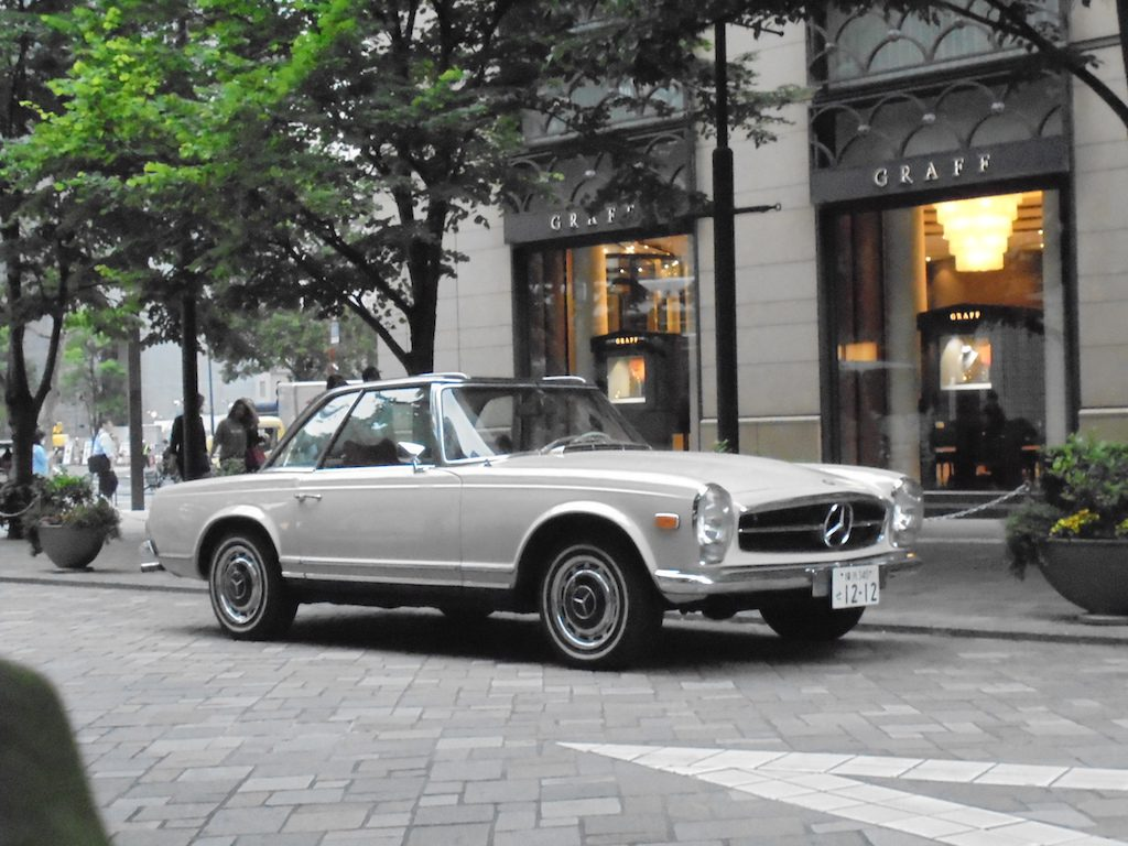 Mercedes-Benz 280SL WHITE/RED 1970